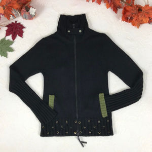Extreme Heart Zip Front Cardigan from Mexico